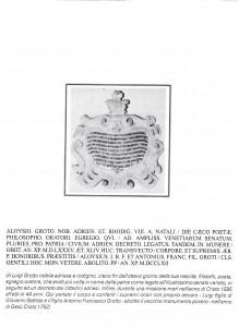 cattedrale epigrafe Groto